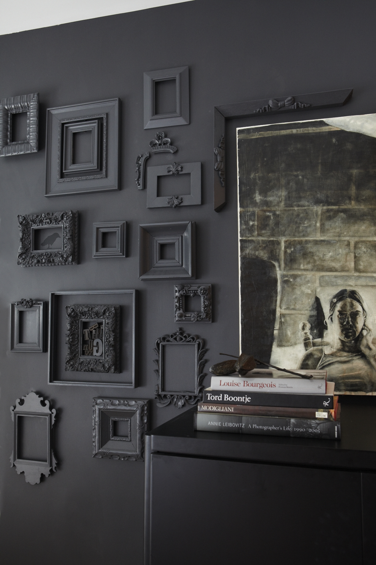 Gray Picture Frames and Wall