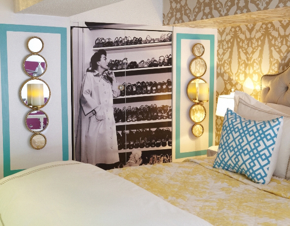 Cropped Joan Crawford Closet - Skinny Light Sconce For a Cramped Bedroom