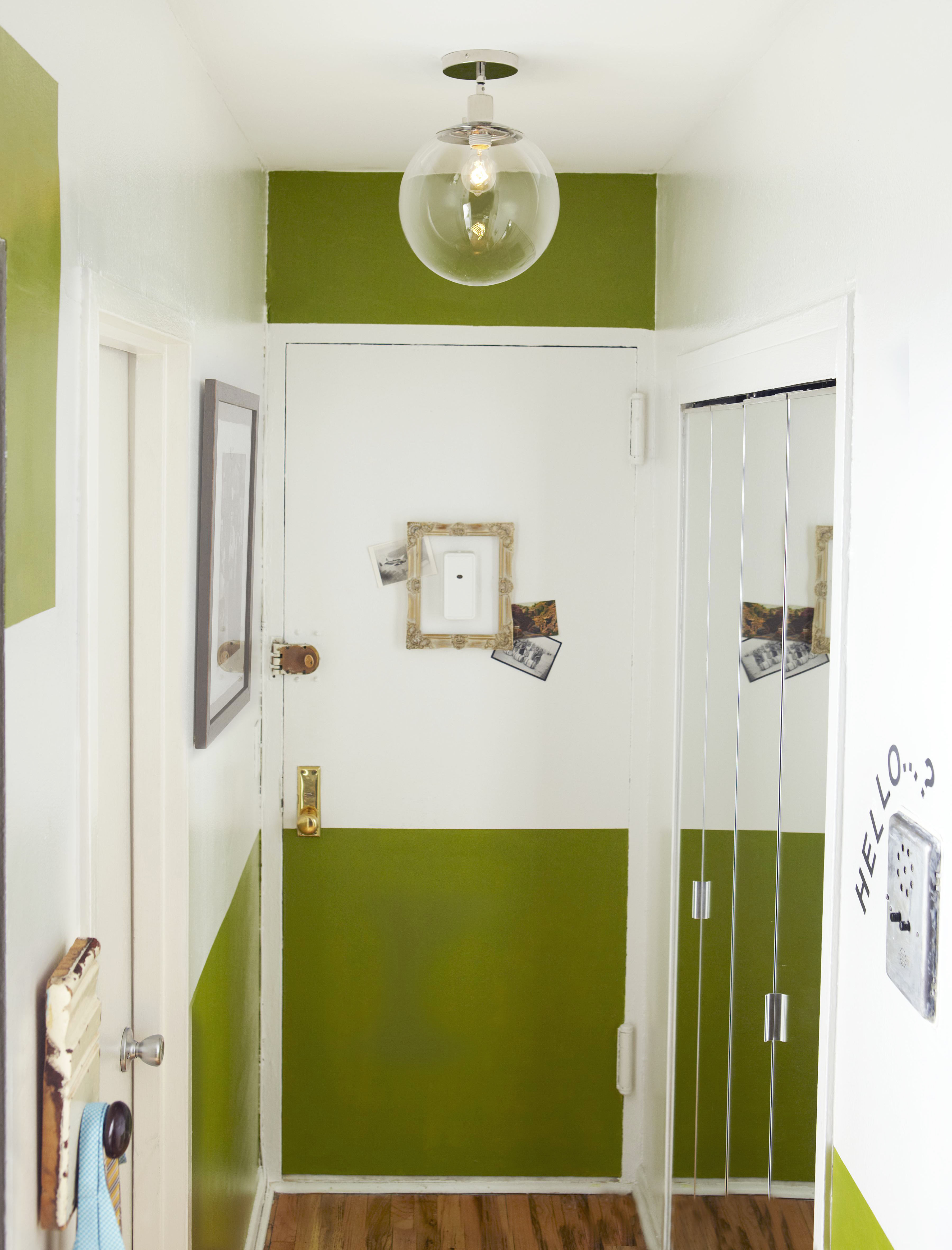 Green Paint Front Door Border