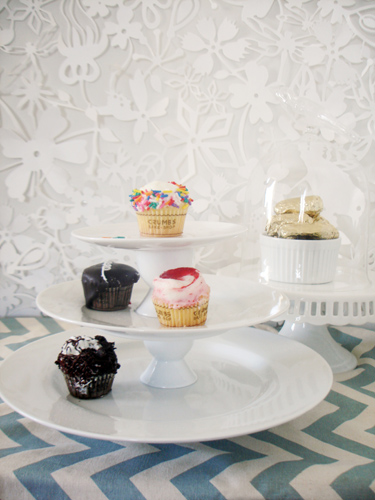 Photo 1 Final Wide Cake Plates - Perky Party Pedestals