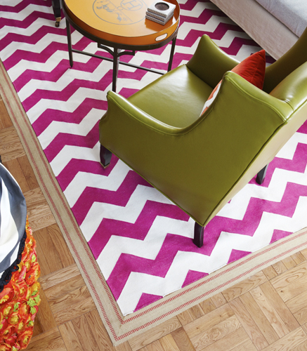 Bordering on Fabulous: Extend the Size of a Small Rug - Living in a ...
