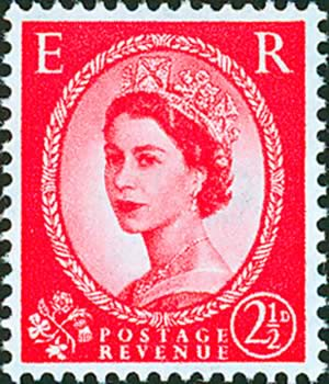 naughty Photo 2 Queen Elizabeth Red Stamp - Naughty or Nice? Queen Elizabeth Felt Pillows