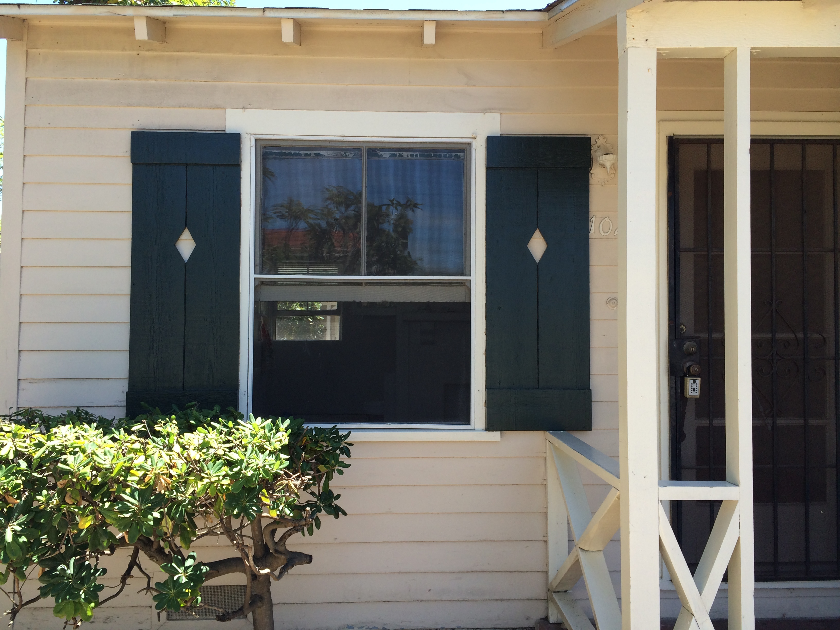 Dark French Green Cottage Shutters
