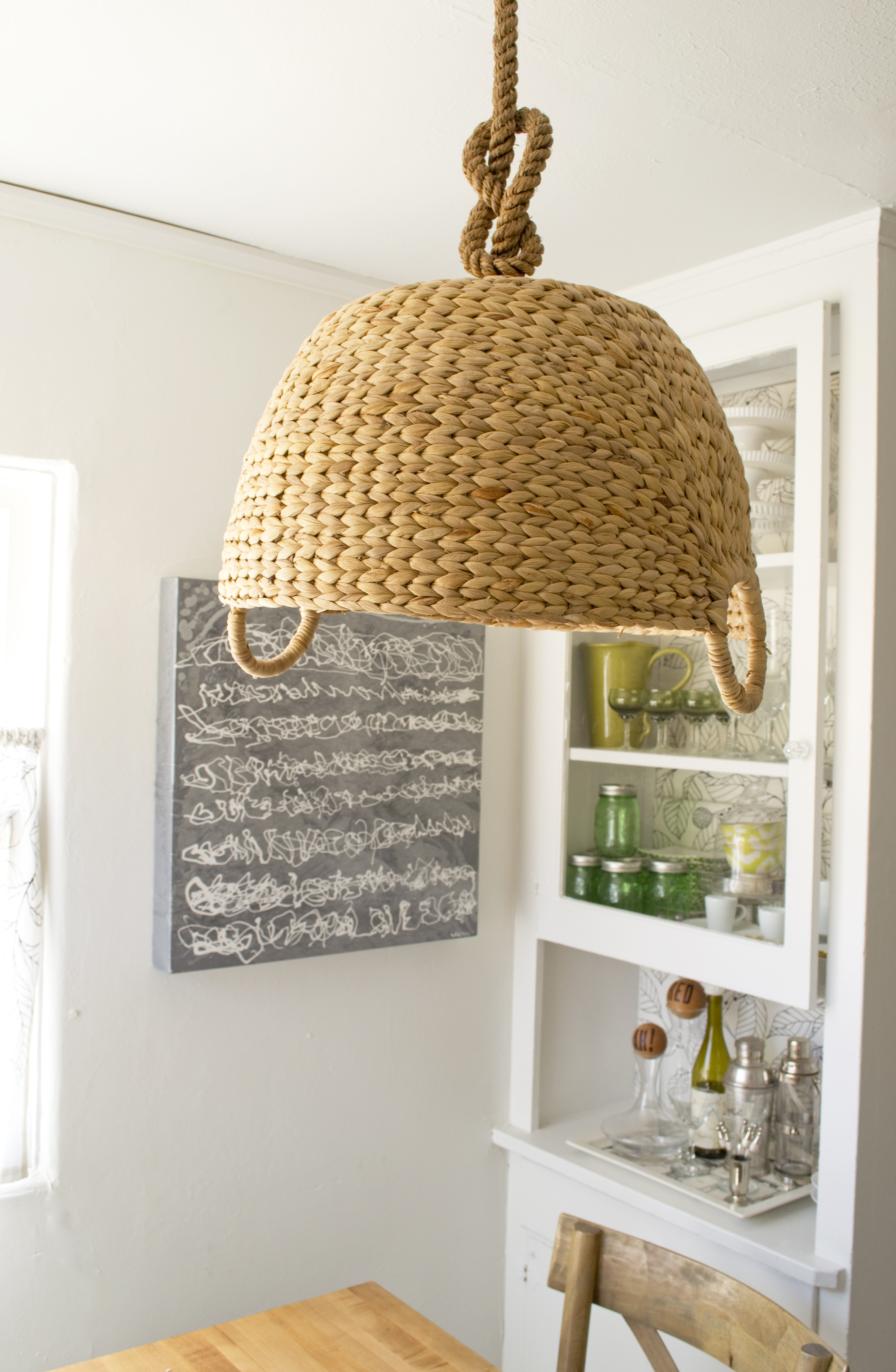 Hanging DIY Basket Lamp