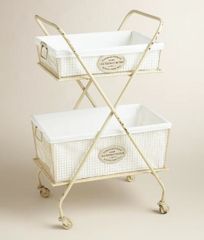 Old White Laundry Cart