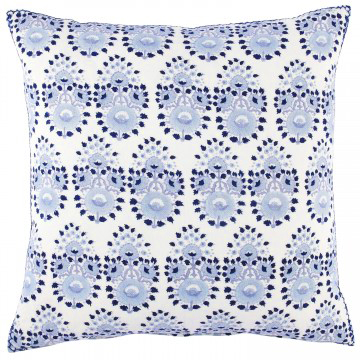 John Robshaw Blue Block Print Pillow