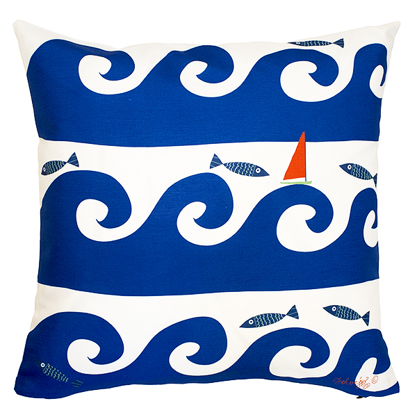 Blue Wave Pillow