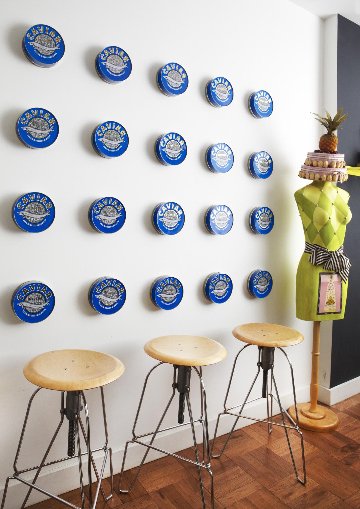 Cropped Caviar Wall