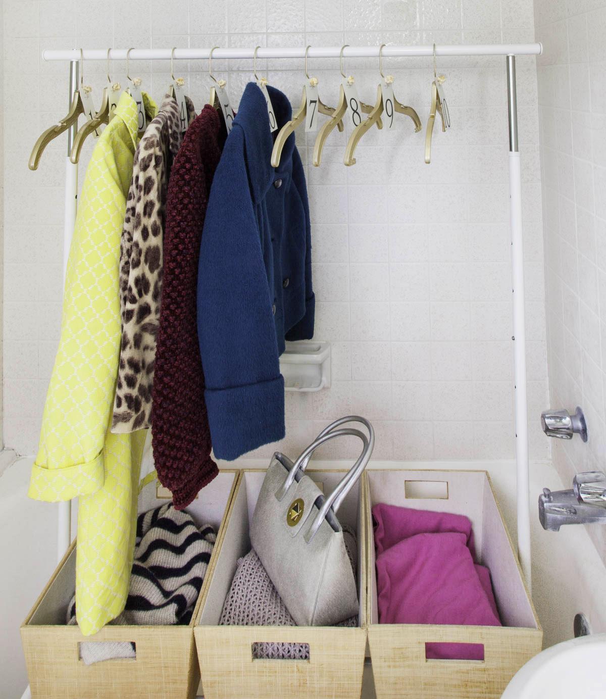 Guest Coat Rack in Shower