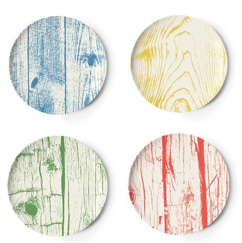 Thomas Paul Faux Bois Melamine Coasters