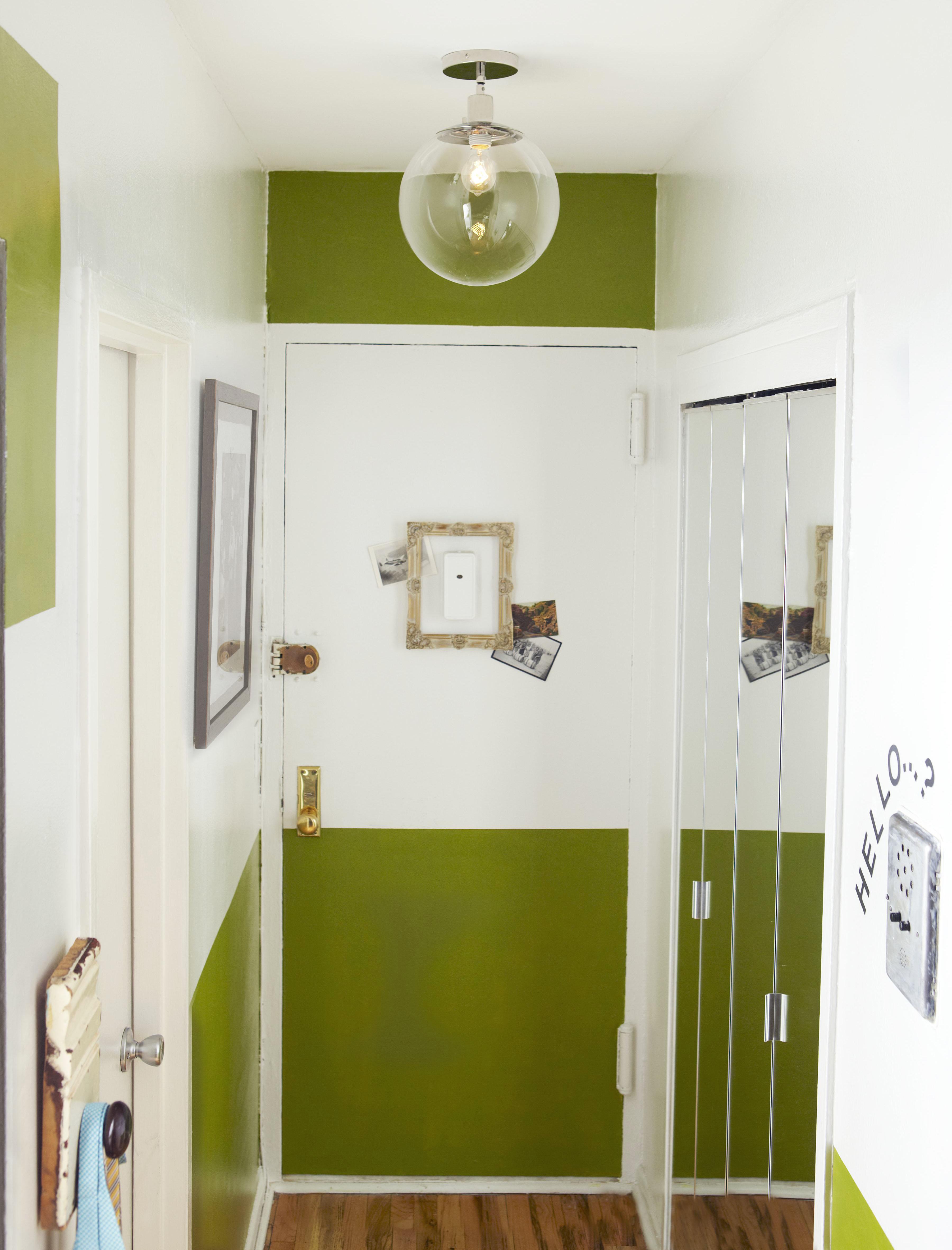 Green Paint Front Door Border