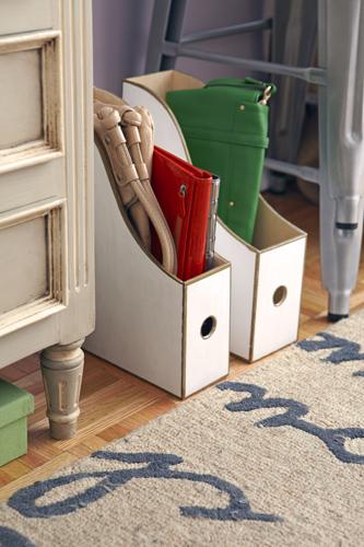 Wood Ikea Magazine Holder Purse Organizer