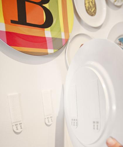 Photo 3 Strips - Full Plate: Melamine Plate Wall