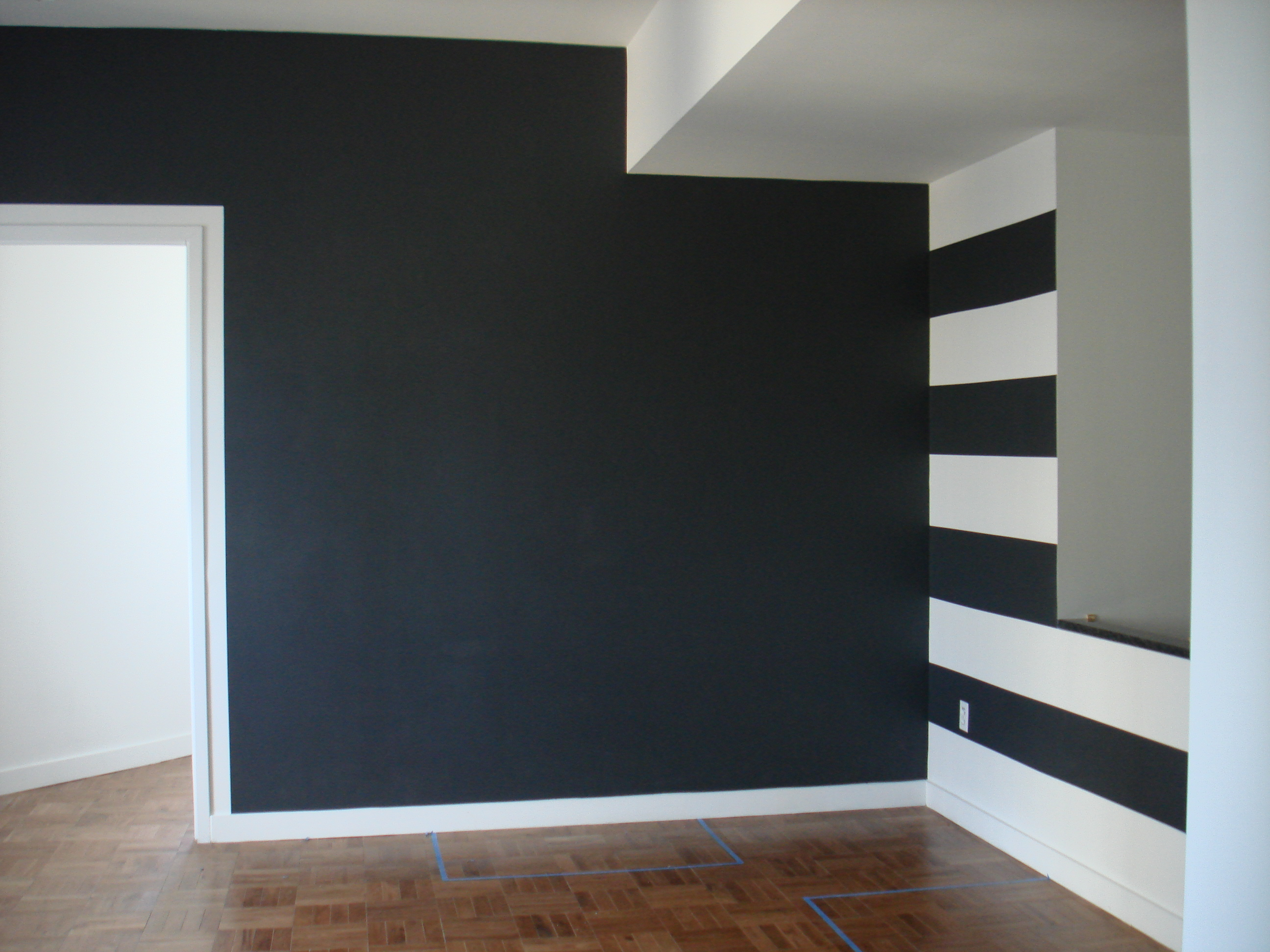 Newly-Painted Gray Living Room