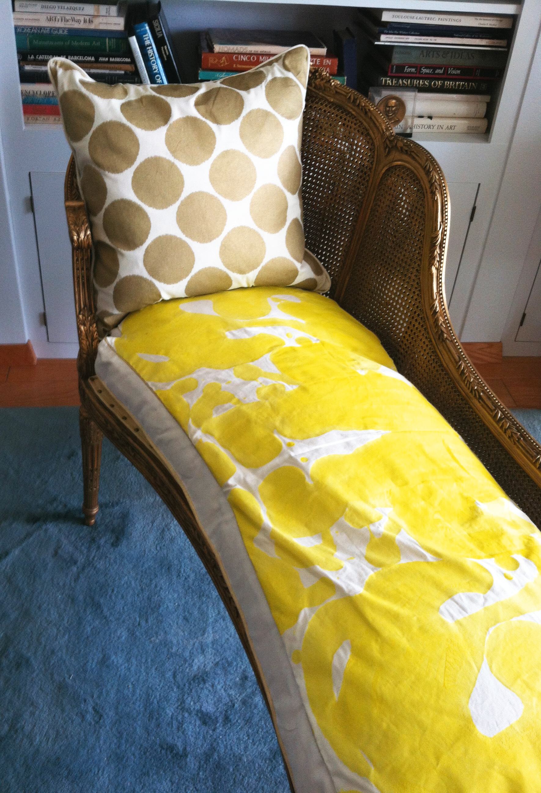 Side Angle Chaise - Custom Inkblot Upholstery