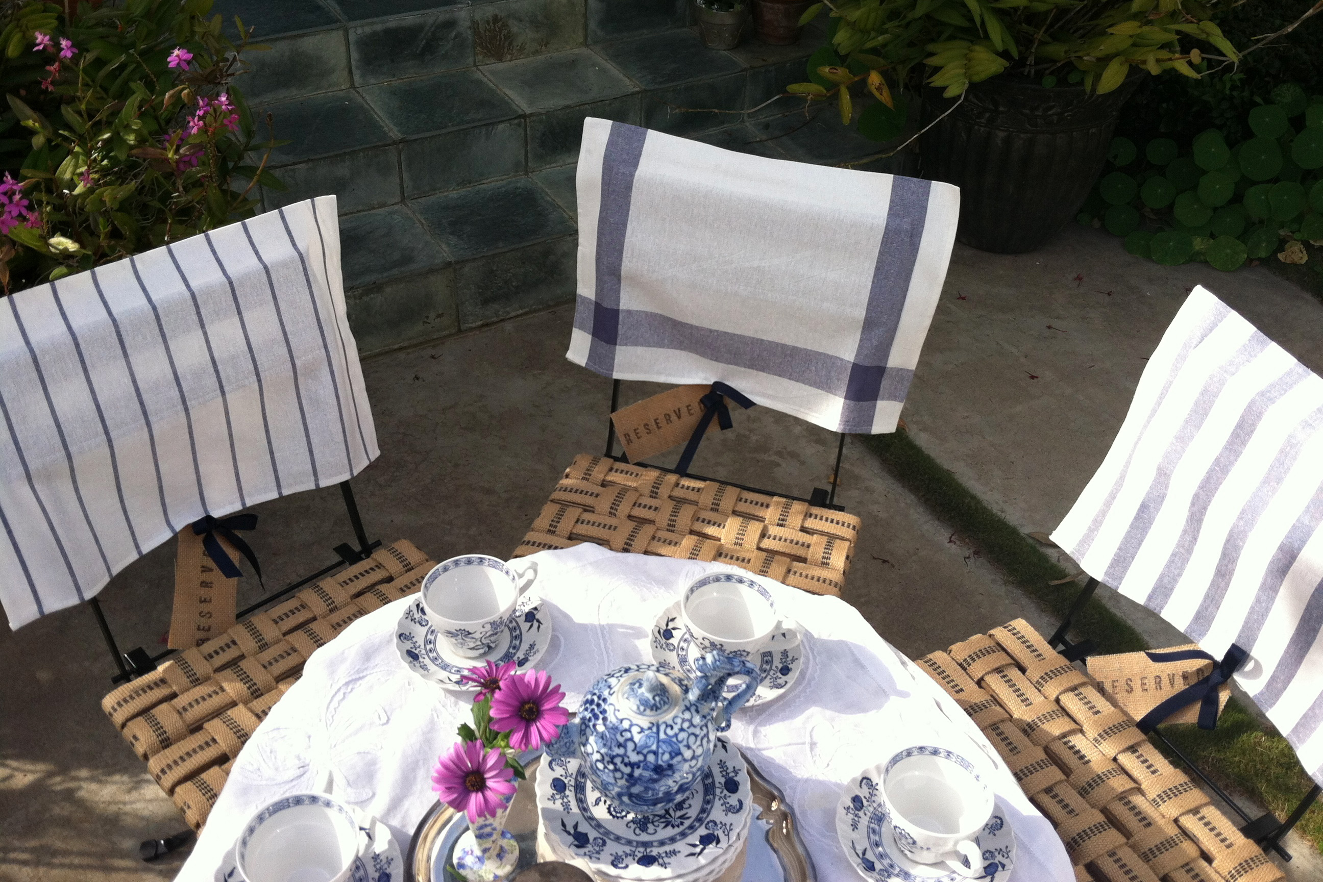 Tea Party Chairs Wide