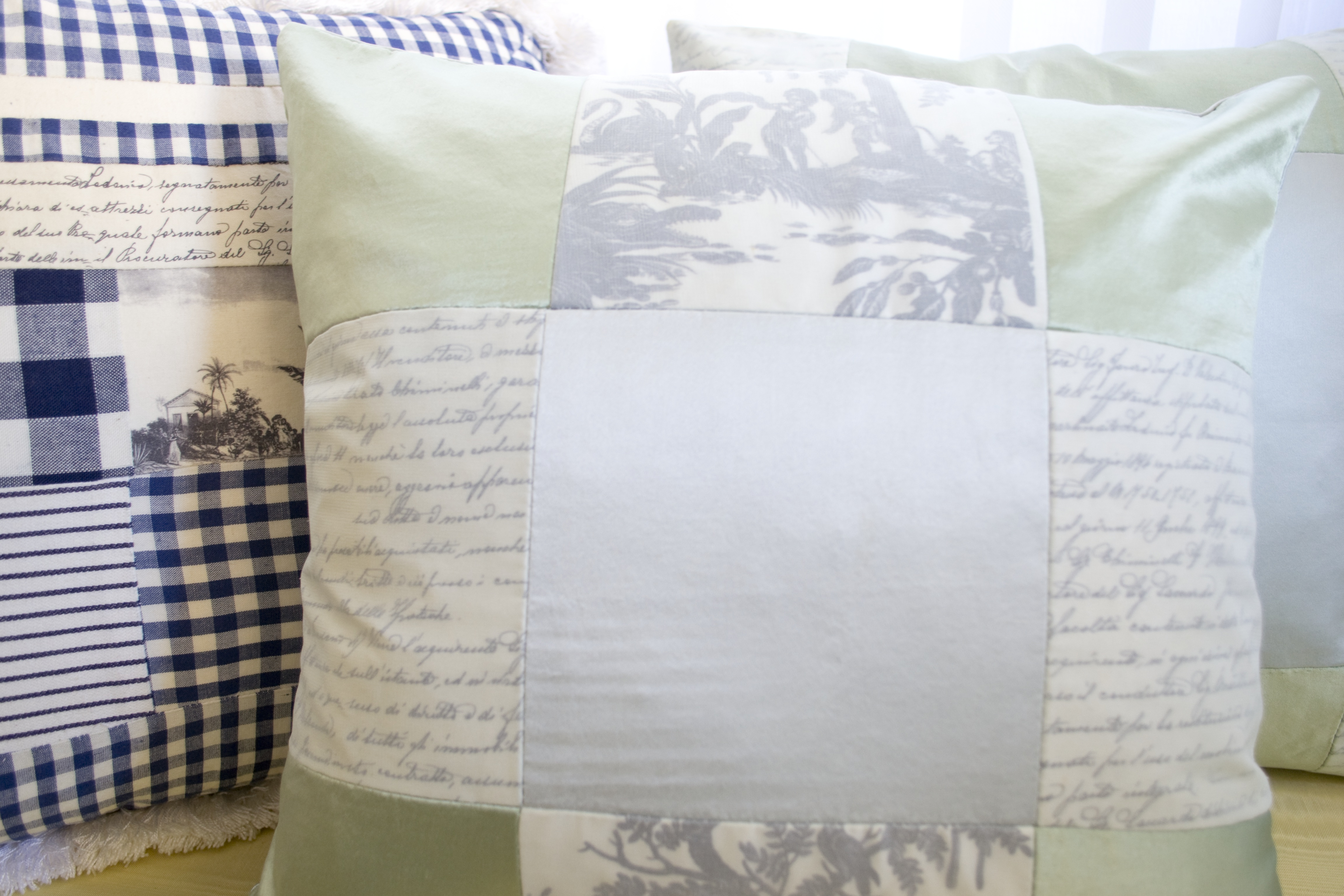 Silk DIY Fabric Transfer Pillow