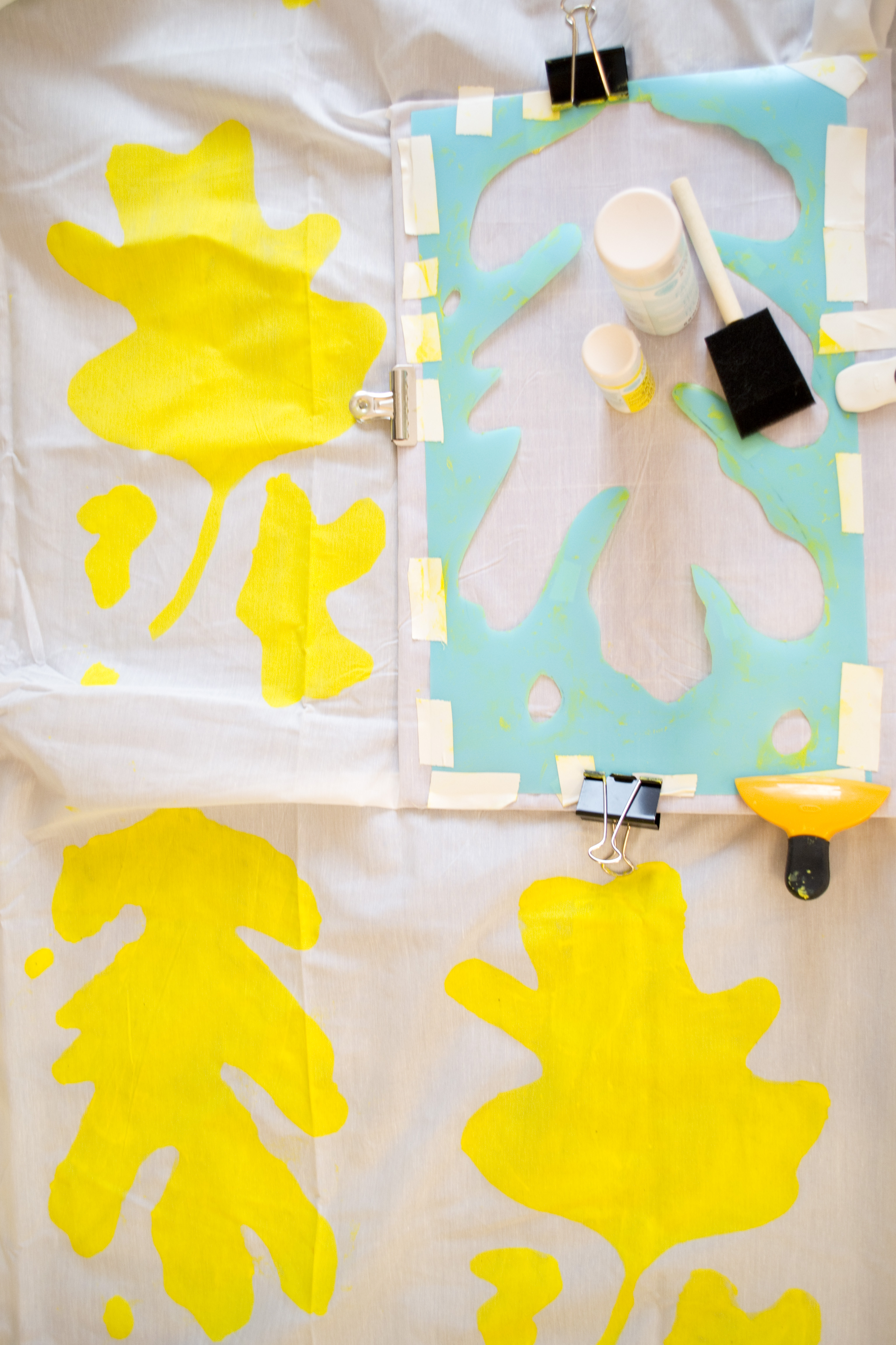 DIY Curtain Stencil