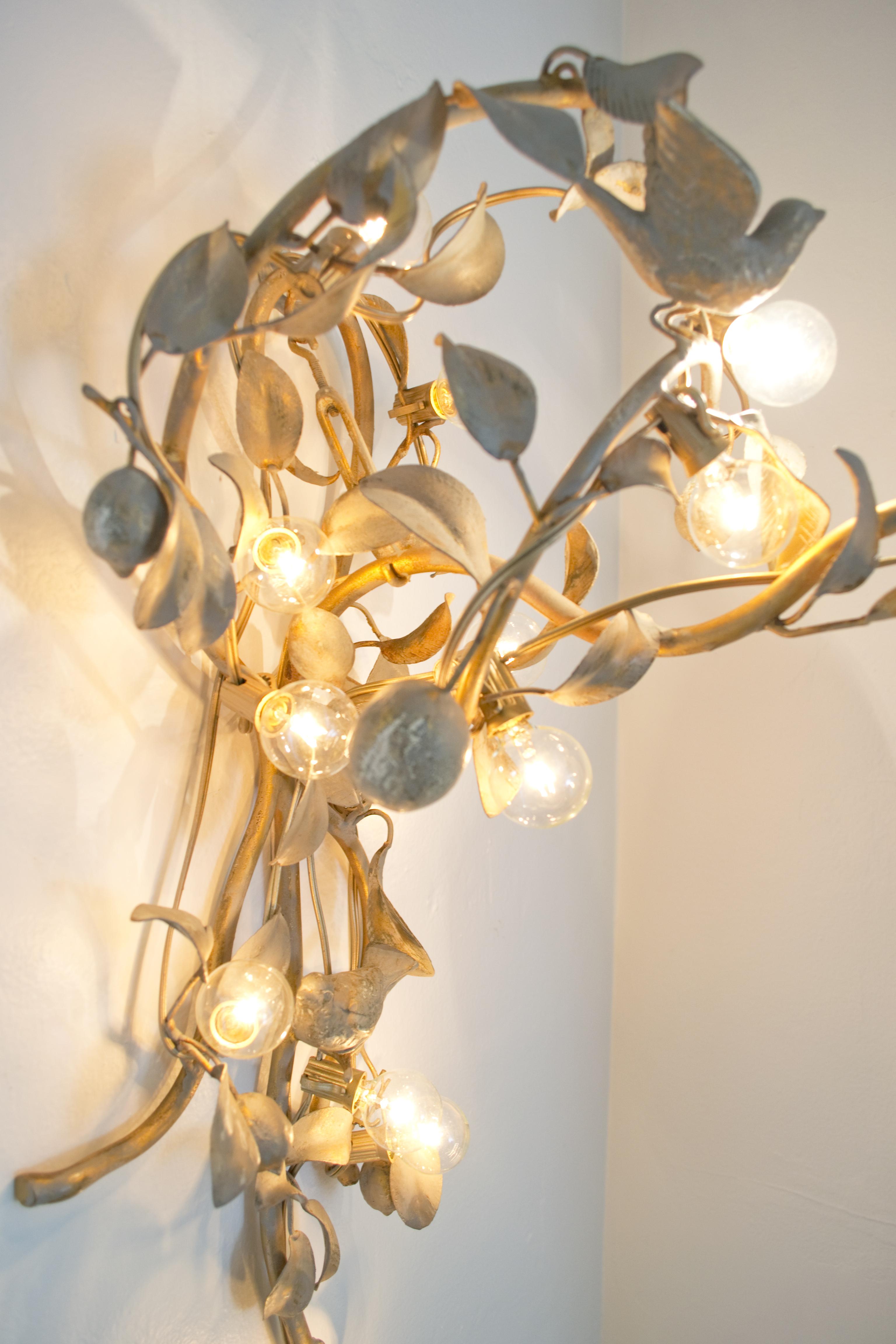 Old Sconce Lights On