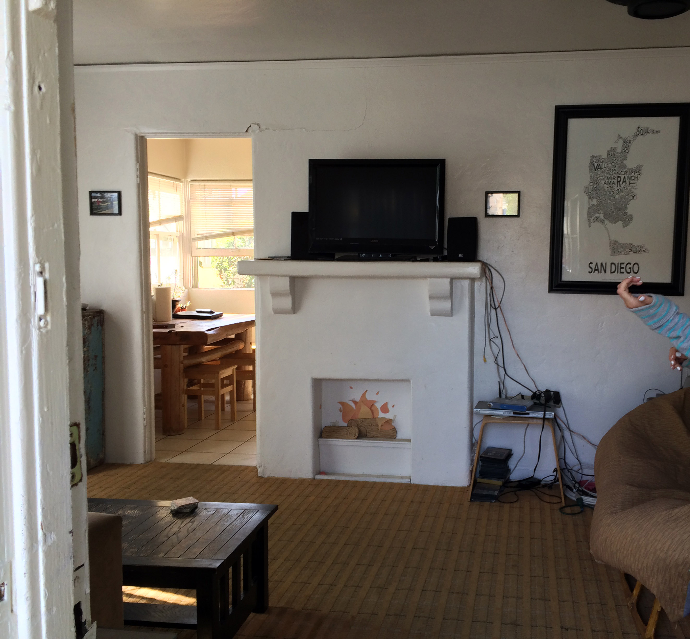 Before Cottage Living Room - Design Abracadabra: Affordable Wall Removal