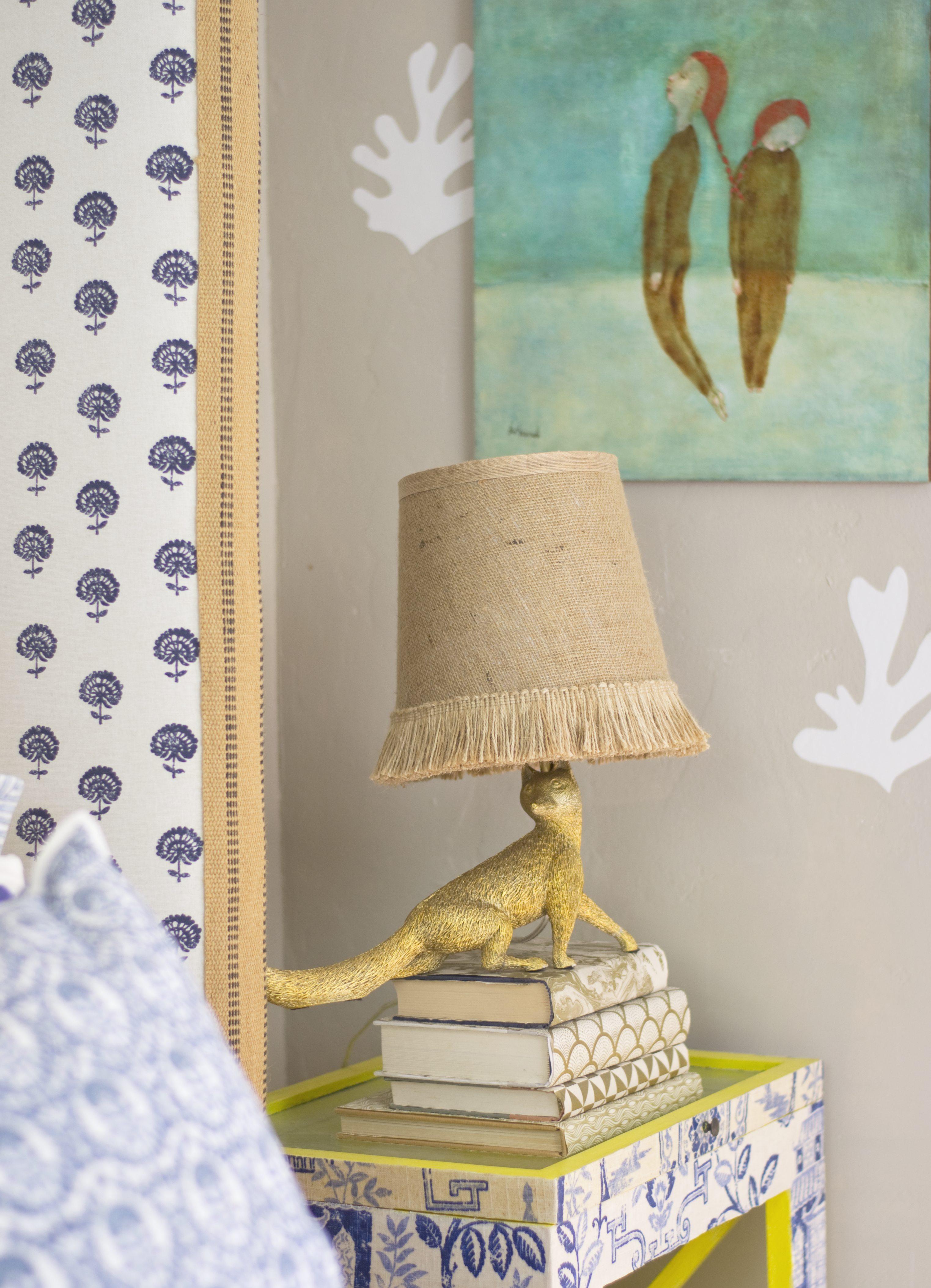 Burlap Lampshade DIY